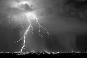 Urban Storm BW by Douglas Taylor