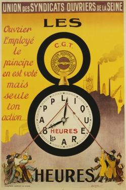 Les 8 Heures Work Incentive Poster by Doumenq