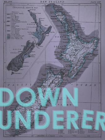 Down Under…er - 1895, New Zealand Map