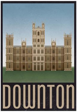 Downton Retro Travel Poster