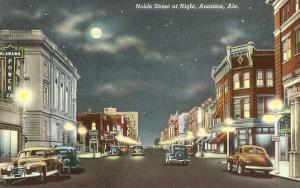 Downtown at Night, Anniston, Alabama