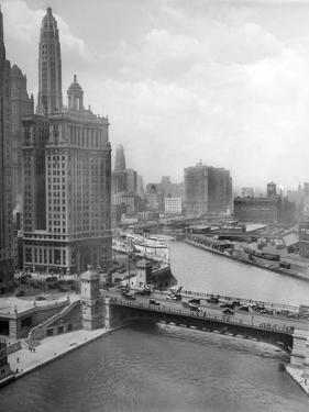 Downtown Chicago View Looking West, Ca. 1928