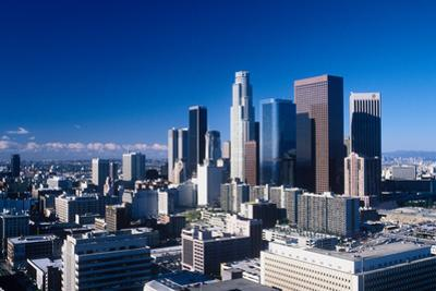 Downtown Los Angeles viewed from the Hollywood Hills, Los Angeles, California