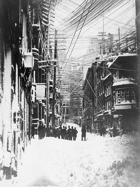 Downtown Manhattan in Blizzard