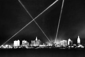 Downtown Miami Skyline at Night, 1926