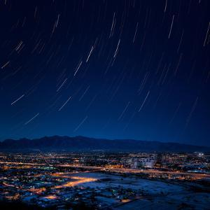 Downtown Tucson and Star Trails by G Vargas