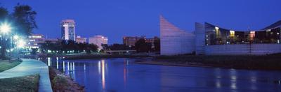 Downtown Wichita Viewed from the Bank of Arkansas River, Wichita, Kansas, USA 2012