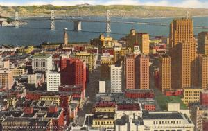 Downtown with Oakland Bay Bridge, San Francisco, California