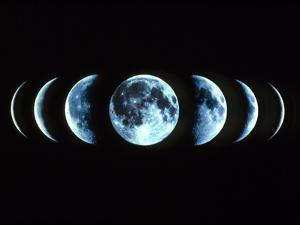 Composite Image of the Phases of the Moon by Dr. Fred Espenak