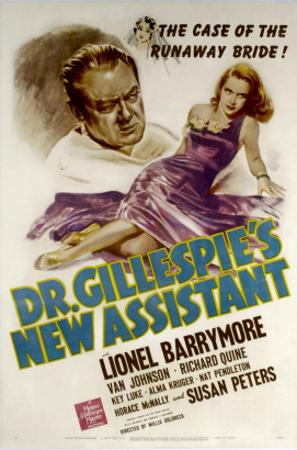 Dr. Gillespie's New Assistant, Lionel Barrymore, Susan Peters, 1942