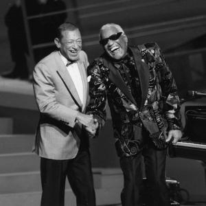 """Henri Salvador and Ray Charles at the """"Victoires De La Musique"""", France by DR"""