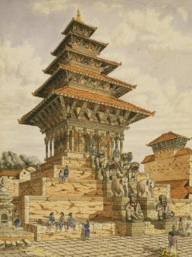 T622 the Temple of Devee Bhagwari, Bhatgaan, Braktapur, Built 1703, 1852-60 by Dr. Henry Ambrose Oldfield