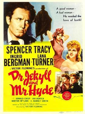 Dr. Jekyll and Mr. Hyde, Spencer Tracy, Ingrid Bergman, Lana Turner, 1941