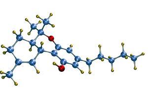 THC Cannabis Drug Molecule by Dr. Mark J.