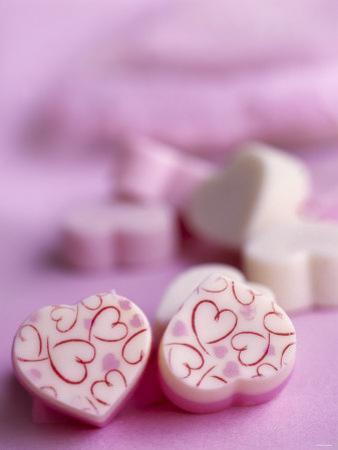 Pink and White Candy Hearts by Dr. Martin Baumgärtner