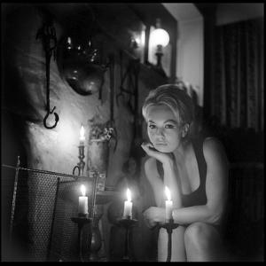 Mylène Demongeot by Candlelight, October 1965 by DR