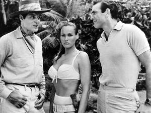 Dr No, L-R: Jack Lord, Ursula Andress, Sean Connery, 1962