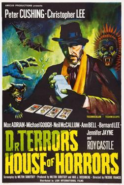 Dr. Terror's House of Horrors, Peter Cushing on UK Poster Art, 1965
