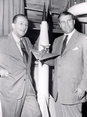 Dr Werhner Von Braun with Walt Disney