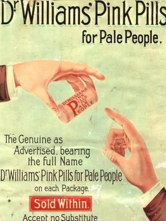 Dr Williams Pin Pills Medical Medicine, UK, 1890