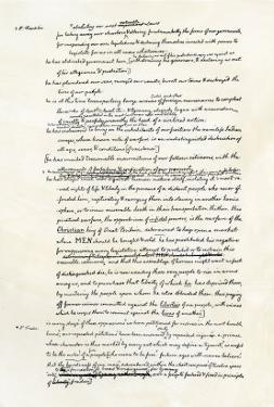 Draft of the Declaration of Independence in Jefferson's Handwriting, Page 3