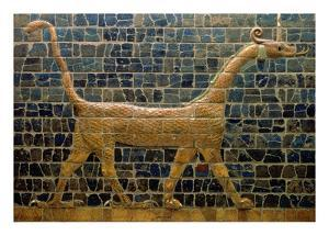 Dragon of Marduk, on the Ishtar Gate, Neo-Babylonian, 604-562 BC