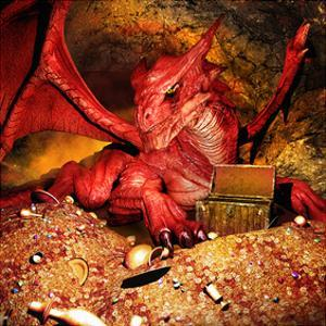 Dragon Smaug & Erebor Treasure