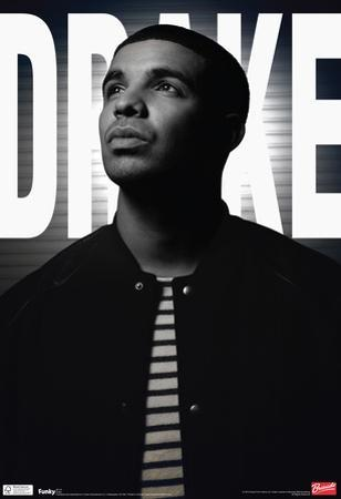 Drake Black And White Music Poster