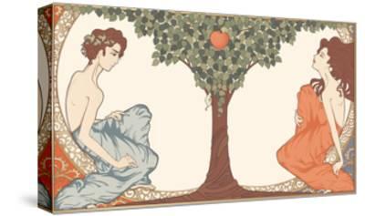 Adam and Eve, Art-Nouveau Style by drakonova