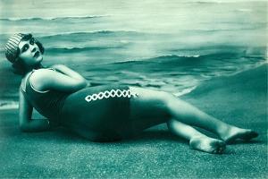 Dramatic Woman on Beach