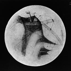Drawing of Mars Showing 'Canals' and Dark Areas, 1896
