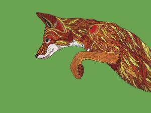 Fox Pounce by Drawpaint Illustration