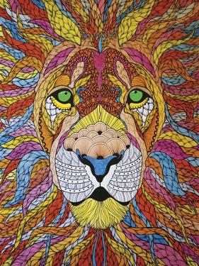 Lion Ablaze by Drawpaint Illustration