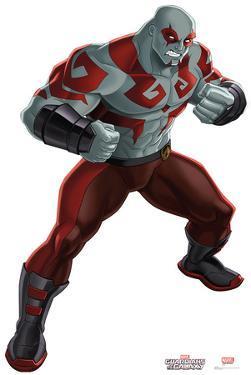 Drax - Animated Guardians Of The Galaxy Lifesize Cardboard Cutout