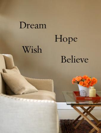 Dream, Believe, Hope, Wish