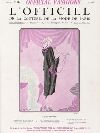 L'Officiel, June 1925 - Fleur Étrange by Drecoll