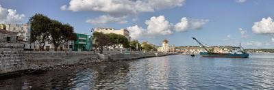 Dredging works in Havana Bay near Avenida del Puerto, Havana, Cuba