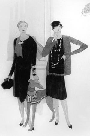 Dress Designs by Chanel, Illustration from 'Vogue' Magazine, 1 April, 1927