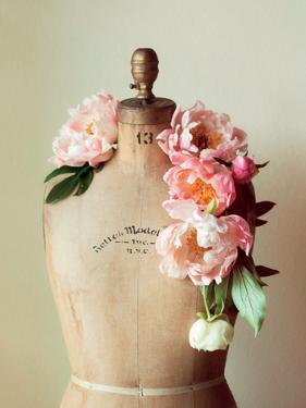 Dress Form and Peonies 2