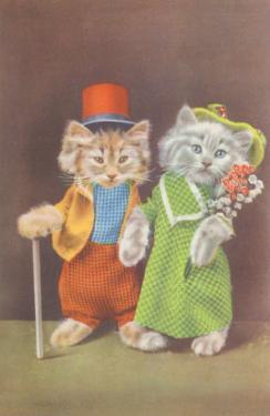 Dressed Kittens on the Town
