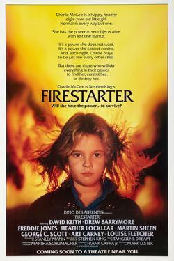 "DREW BARRYMORE. ""Firestarter"" [1984], directed by MARK L. LESTER."