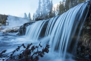 A Waterfall on the Firehole River in Yellowstone National Park by Drew Rush