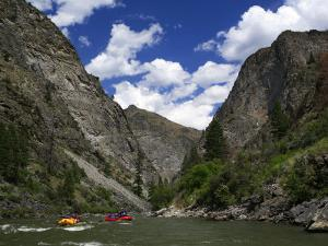 Entering the Impassible Canyon on the Middle Fork of the Salmon River by Drew Rush