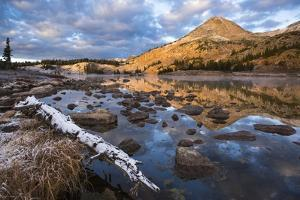 Reflections of Mountains on Libby Lake in the Medicine Bow-Routt National Forest by Drew Rush