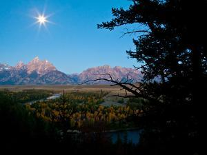The Full Moon Illuminates the Snake River in Grand Teton National Park by Drew Rush