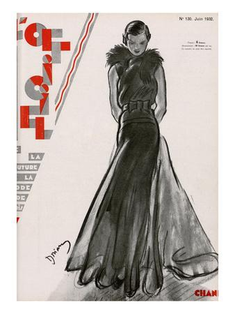 Lu0027Officiel, June 1932   Création ChanelDrian  Fashion Design Posters