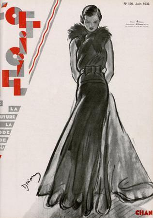 L'Officiel, June 1932 - Création Chanel by Drian