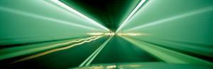 Drivers Perspective in Tunnel, Blurred Motion