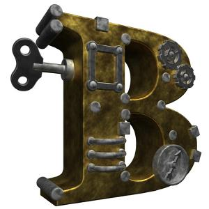 Steampunk Letter B by drizzd