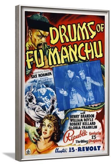 Drums of Fu Manchu--Framed Art Print